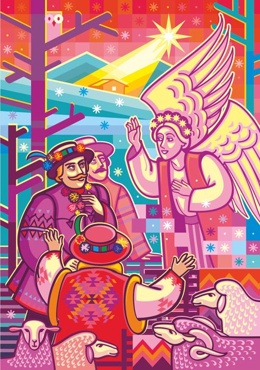 2020 UNA Christmas Cards artist Iryna Korchuk 5-Pastuhy