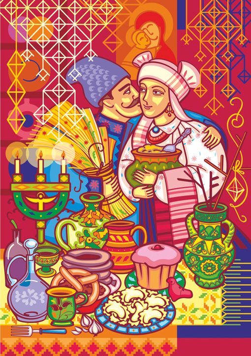 2020 UNA Christmas Cards artist Iryna Korchuk 7-Dinner
