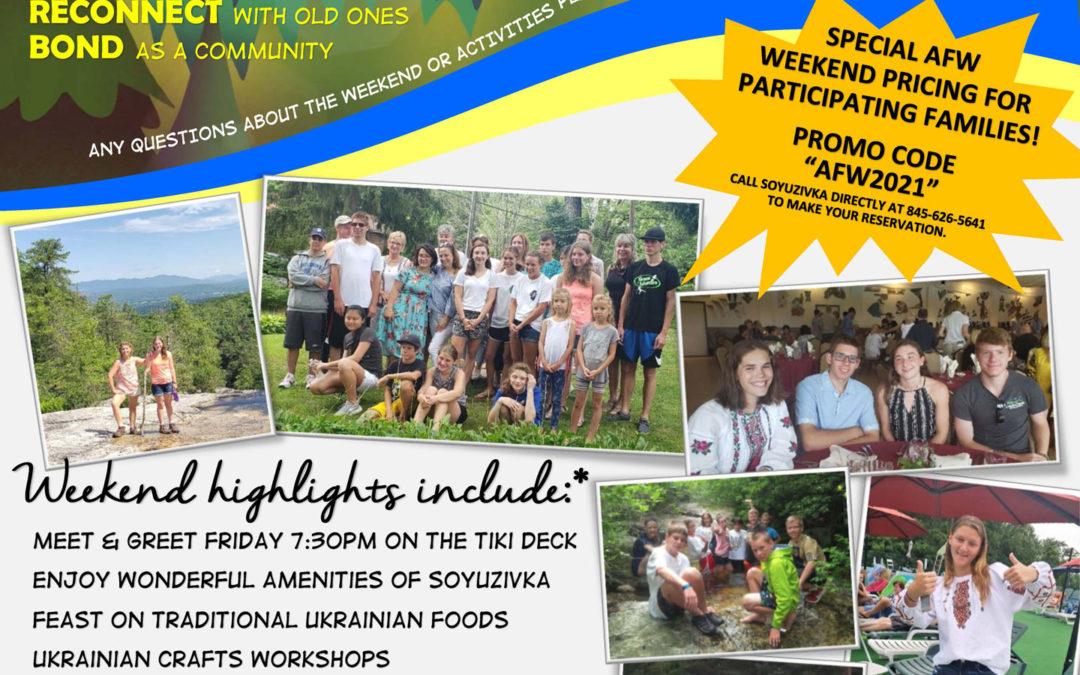 16th Annual Ukrainian Adoptive Families Weekend at Soyuzivka