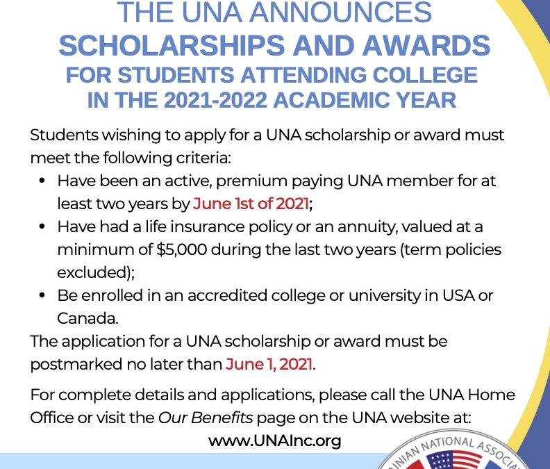 Scholarship opportunities for the 2021/2022 academic year!