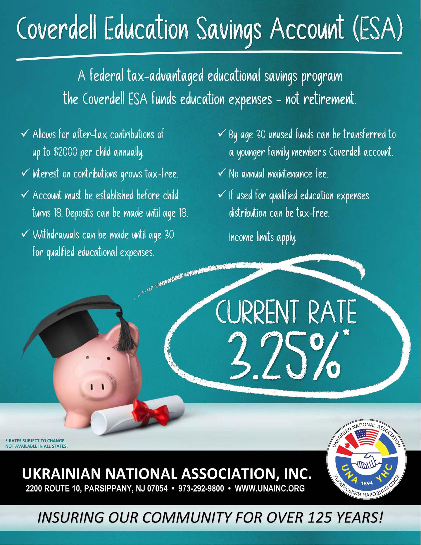 UNA Coverdell Education Savings Account (ESA)