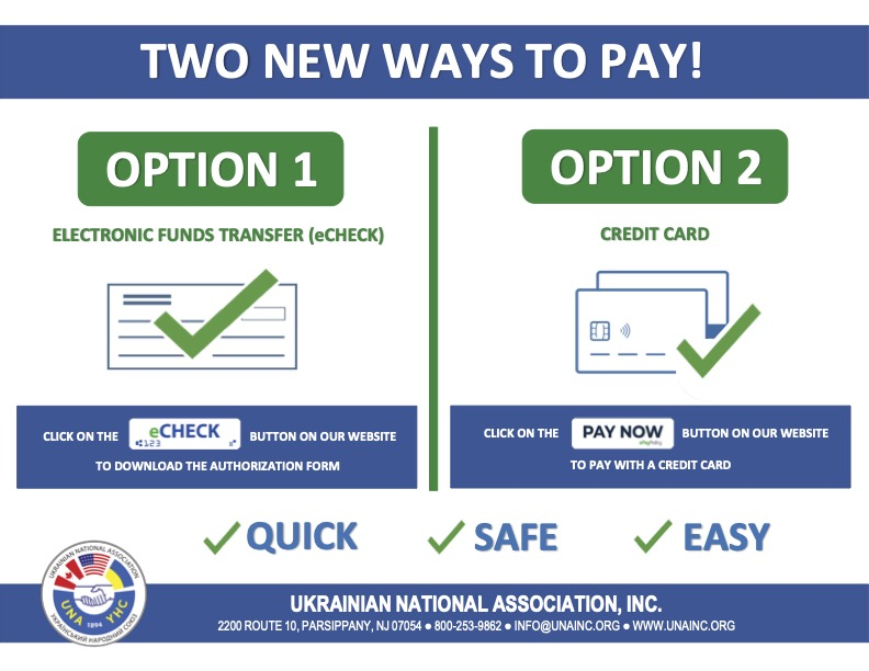 TWO NEW WAYS TO PAY!